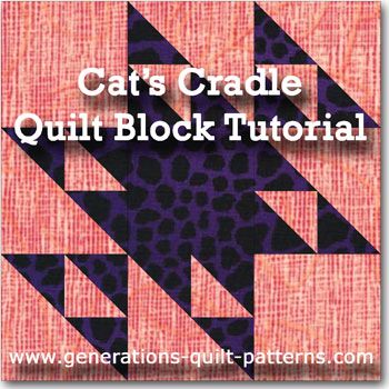 """Cat's Cradle"" Free Modern Quilt Block Pattern designed by Julie Baird from Generations Quilt Patterns"