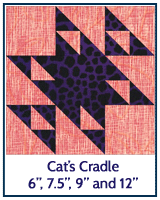 Cat's Cradle quilt block tutorial