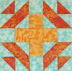 Christmas Star quilt block design