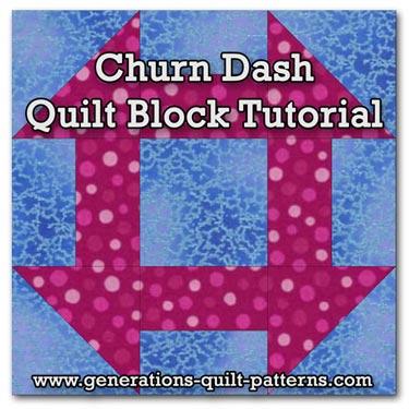Churn Dash - Quilting in America