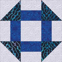 Churn Dash quilt block design variation