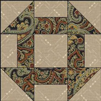 Traditional Churn Dash quilt block