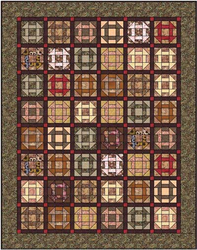 Churn Dash quilt blocks, straight set with sashing