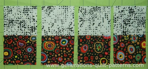Stitch 4 sets of small patches together