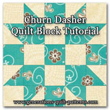 Churn Dasher quilt block instructions