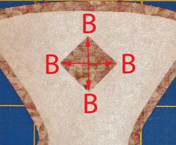 Clip reverse applique cutout