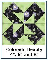 Colorado Beauty quilt block tutorial
