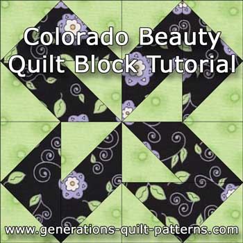 """Colorado Beauty"" Free Modern Quilt Block Pattern designed by Julie Baird from Generations Quilt Patterns"