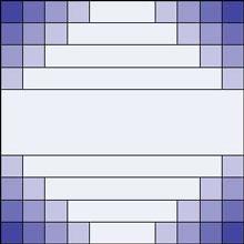 Colorwash Irish chain quilt block 2