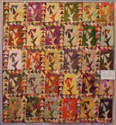 Cone Flower Quilt by Jackie Olmstead