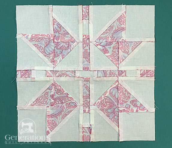 ...and our Continental quilt block from the back side.