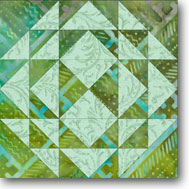 Corn and Beans Quilt Block