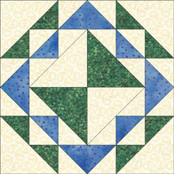 Corn and Beans quilt bloc design