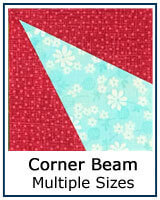 Corner Beam quilt block tutorial and review
