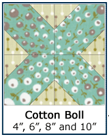 Cotton Boll quilt block tutorial