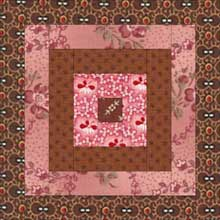 Courthouse Steps Quilt Block - Concentric Squares