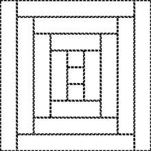Courthouse Steps Quilt Block - drawing