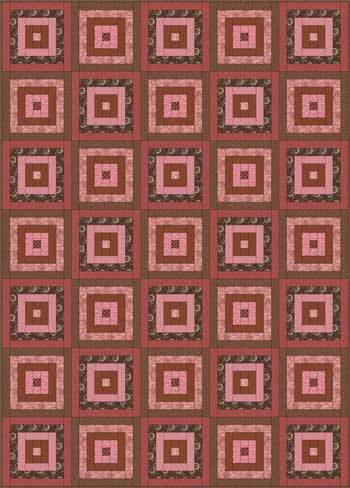 Courthouse Steps Quilt - Color Variation #1