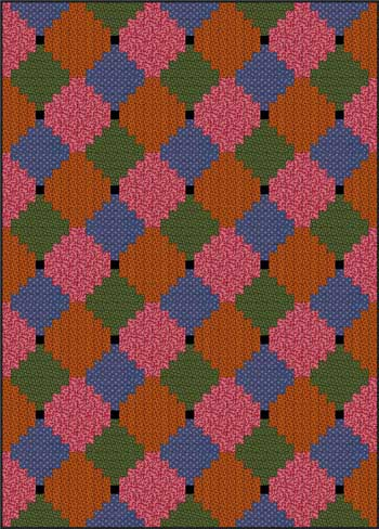 Courthouse Steps Quilt - Color Variation #2
