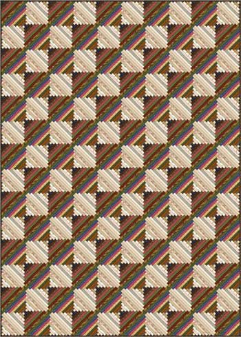 Courthouse Steps Quilt - scrappy, on-point