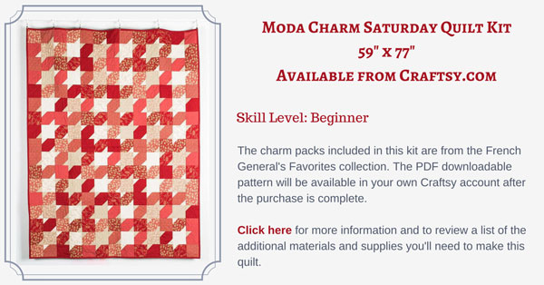 Moda Charm Saturday quilt kit