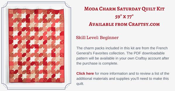 Moda Charm Saturday quilt kit