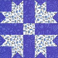 Cross and Crown quilt block design