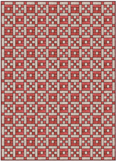 A Crossword Puzzle quilt in two fabrics
