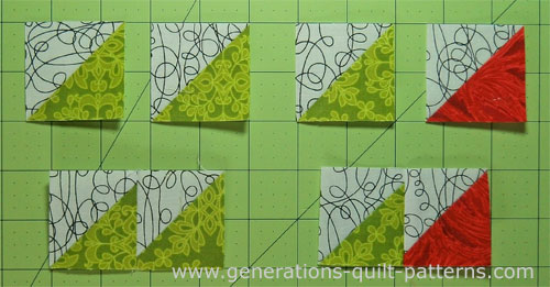 Stitch the HST into two different sets of pairs