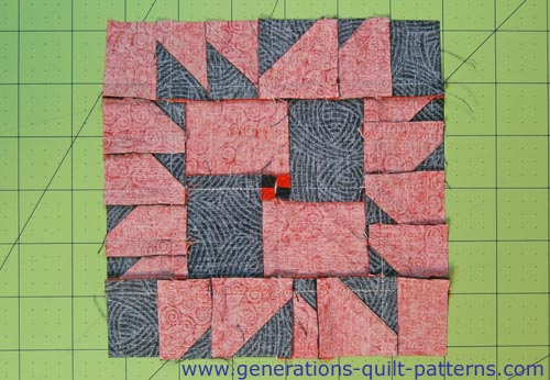 The finished Crow's Foot block, back