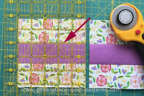 Subcut the strip set into squares