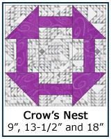Crows Nest quilt block tutorial