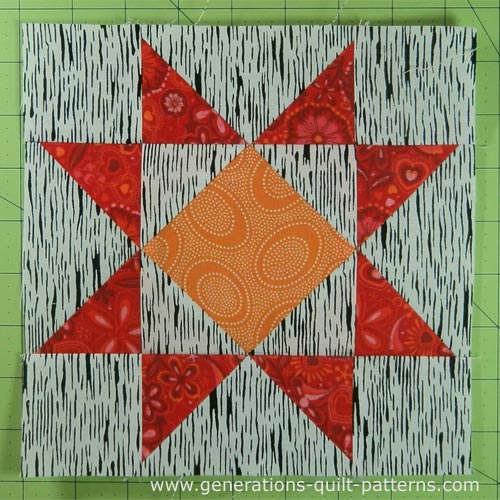 Crystal Star Quilt Block Tutorial Instructions For 5 Block Sizes