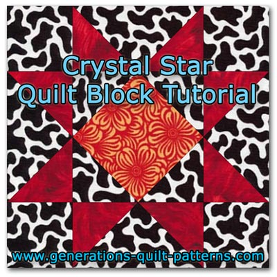 Crystal Star quilt block