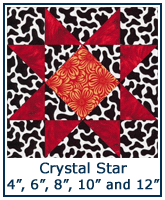 Crystal Star quilt block tutorial