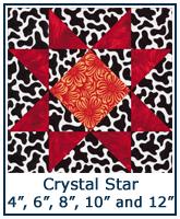 Crystal Star quilt block tutorial