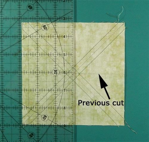 Cut in half again through the center