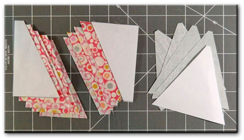 Cut patches for a Star Chain quilt block
