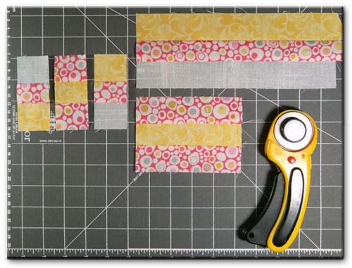Subcutting strip sets