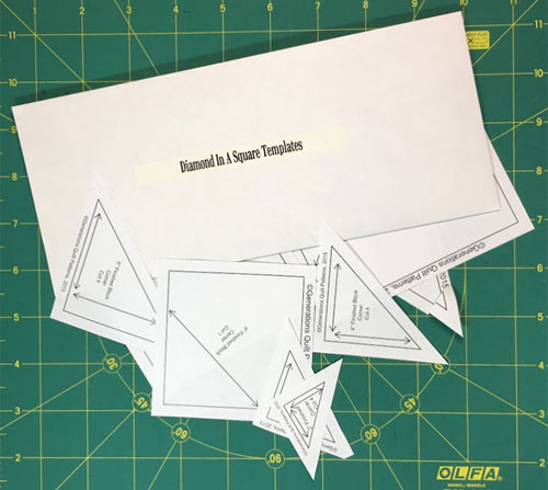 Diamond in a Square downloaded and printed templates