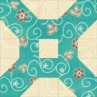 Domino quilt block design