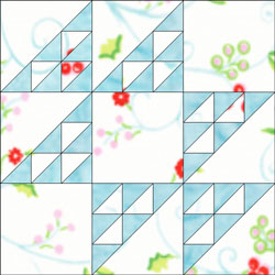 Double Hour Glass quilt block design