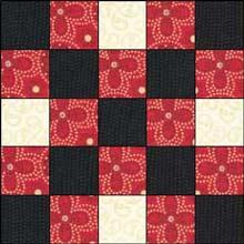 Double Irish Chain quilt block 1