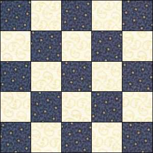 Double Irish Chain quilt block 1