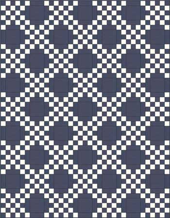 Double Irish Chain Quilt Pattern - straight set