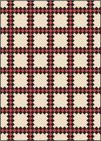 Double Irish Chain Quilt Pattern - diagonal set
