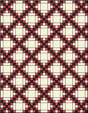 Irish Double Chain Quilt Pattern Free : Double Irish Chain Quilt Pattern: Easy Quilt Block, Easy Quilt Pattern