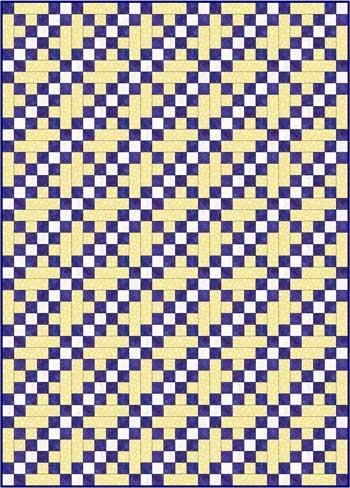 Double Irish Chain Quilt Pattern Variation - straight set
