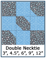 Double Necktie quilt block tutorial