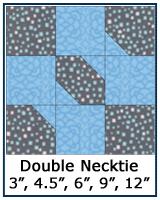 Double Necktie quilt block tutorial